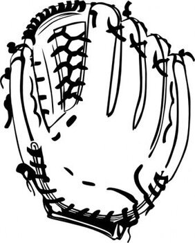Baseball Glove (b And W)