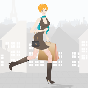 Shopping Girl in Paris - Free