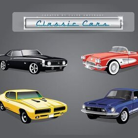 4 Vector Classic Cars