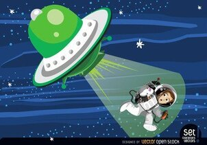 Astronaut abduction from flying saucer