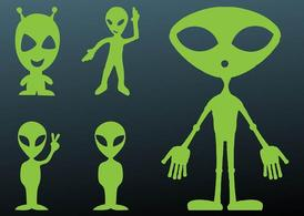 Happy Aliens Silhouettes