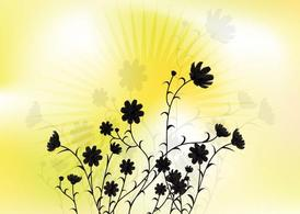Sunny Flower Vector Art