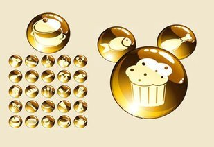 Gold food icon