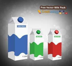 3D Milk Packet Template