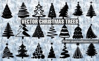 21 Vector Christmas trees
