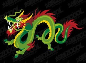 Color Chinese dragon