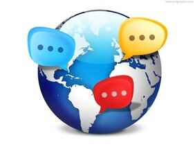 Global social network icon (PSD)