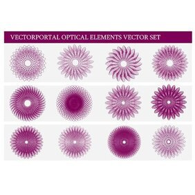 GUILLOCHE ROSETTES VECTOR SET.eps