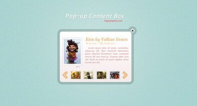 Stylish Pop-up Content Box