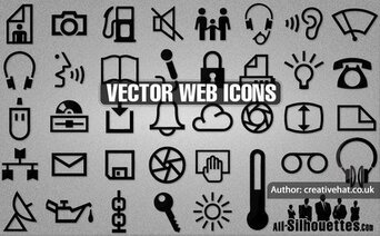 37 Vector web icons