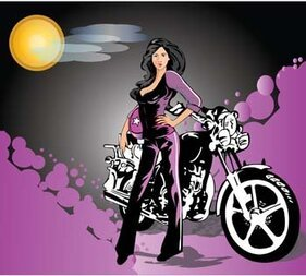 Motorcycle girl 6