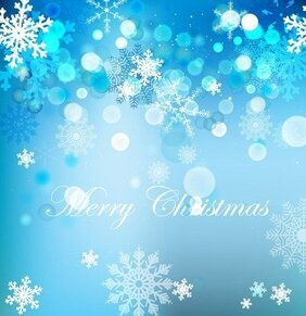Vector Elegant Christmas Background With Beautiful Snowflakes