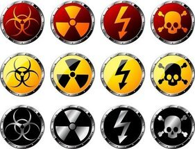 Nuclear Radiation Hazard Warning Signs