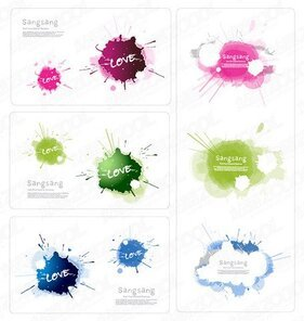 Exquisite color ink card material