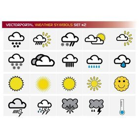 WEATHER SYMBOLS FREE VECTOR SET.eps