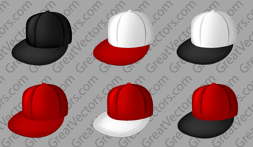 Free Vector Cap Templates