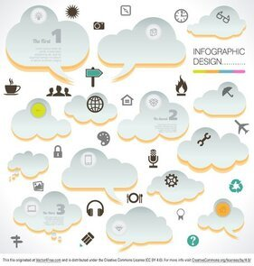 Cloud Infographic vektory
