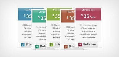 Pricing Box (Free PSD)