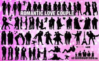 47 Vector romantic love couple