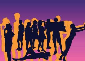 Friends Silhouettes Vectors