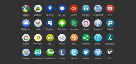 Buddycons: 126 Vector-Based Social Media Icons