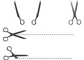 Cutting Edge Scissor Vectors