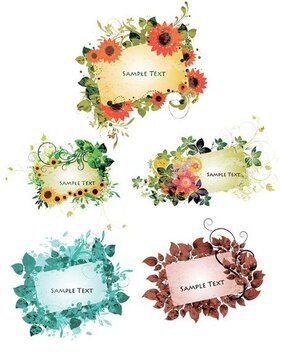 Vector pattern lace card