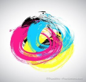 CMYK Brush Stroke