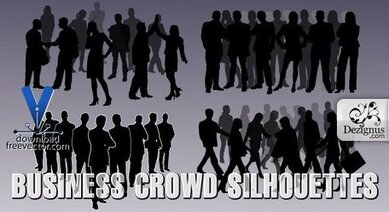 Business Crowd Silhouettes