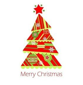 Christmas Tree Vector Illustration 1