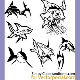 SHARKS VECTOR PACK.eps