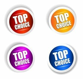 Top Choice Klistermärke Vector Set