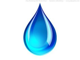 PSD blue water droplet icon