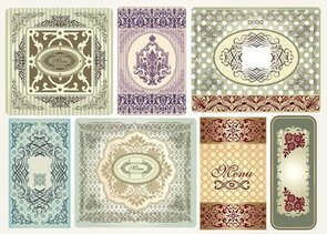 Exquisite pattern border pattern 01