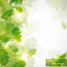 Free Green leaf background