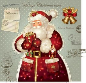 Santa Claus greetings card vector-1