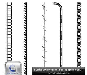 Abstract Black & White Border Set