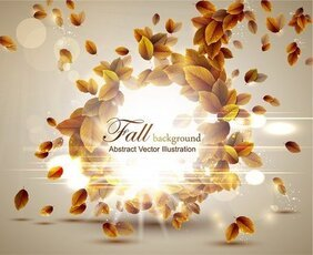 Autumn Leaves Vector 5 Graphic Design