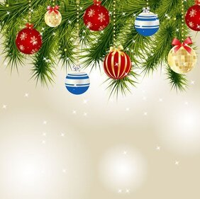 Christmas card background vector-7