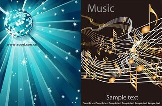 2 Vector music background material