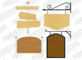 European-style wood signs
