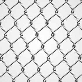 Realistic Metal Chain Fence