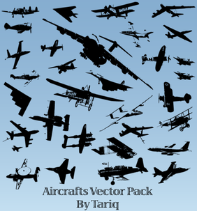 Free Aircrafts Silhouettes Vector Pack