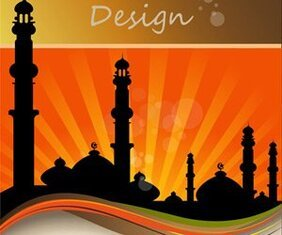 Islamic flyer template design