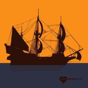 Silhouet piratenschip