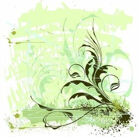 Flores ornamento Grunge Background