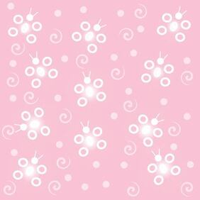 Abstract Funky Butterfly Pink Background