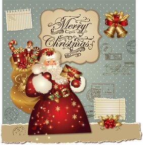 Xmas greeting card 2013 vector-2