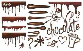 Vector of liquid chocolate material