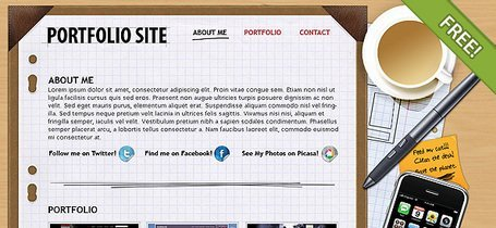 Gratis PSD portefeuille lay-out